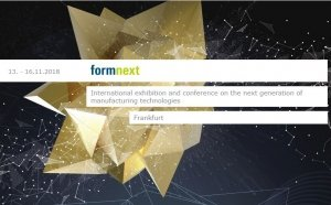 FORMNEXT : International exhibition and conference on the next generation of manufacturing technologies November 13-16, 2018 | Frankfurt, Germany @ Messe Frankfurt - Halle 3