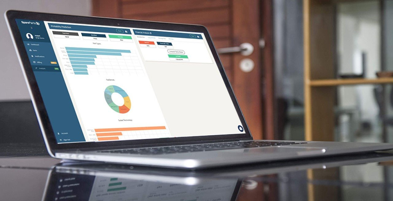 a laptop showing digipart,